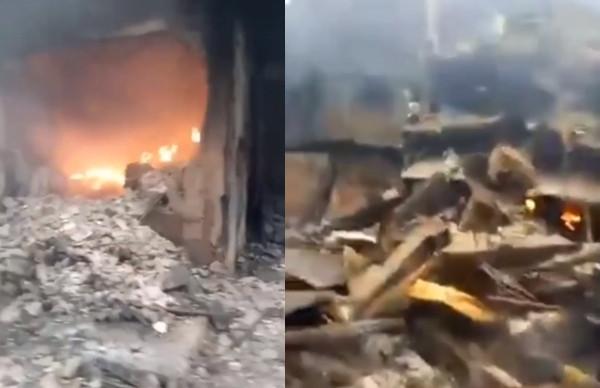 Some parts of Ochanja market in Onitsha is still on fire this morning lindaikejisblog