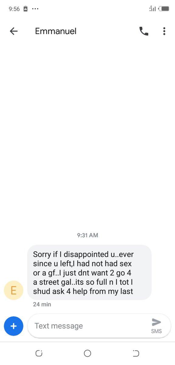 Nigerian lady shares text message from her ex-boyfriend that needed 'help' lindaikejisblog