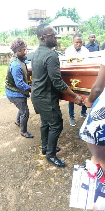 Photos from the burial ceremony of social commentator, Stanley Nwabia lindaikejisblog 1