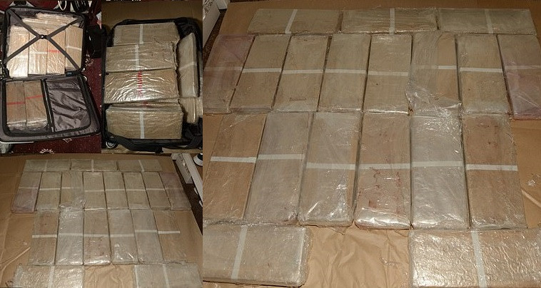 Police release photos of seized 3million haul of heroin and 100,000 in cash found under the floor of a van
