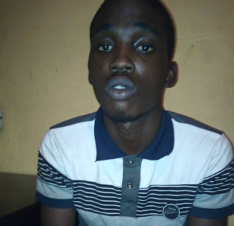 Suspect arrested for stealing Tithes and Offerings in a church in Lagos (photo)