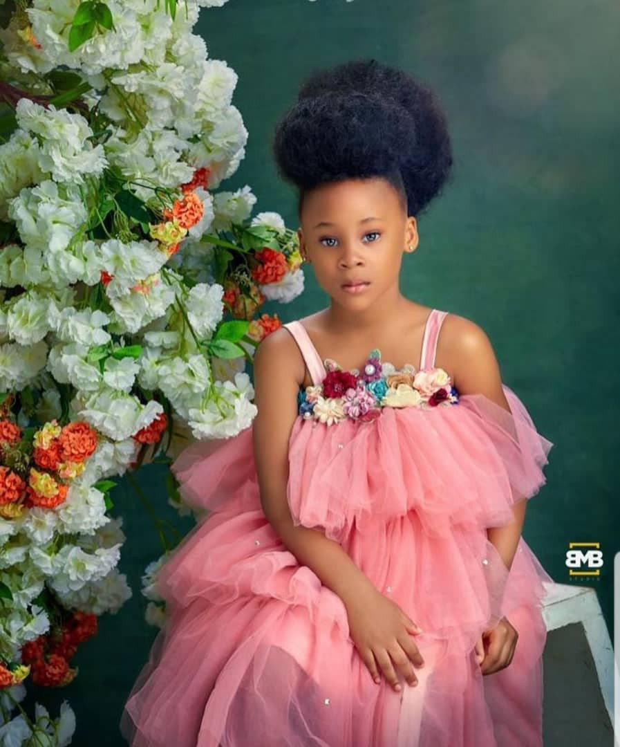Beautiful new photos of Flavour and Sandra Okagbue's daughter, Gabrielle, who turns 5 today