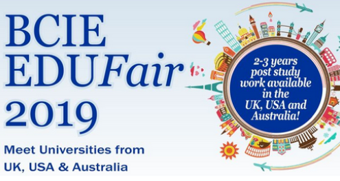The BCIE Education fair is back again A World Class Education Opportunity in the United Kingdom USA and  Australia