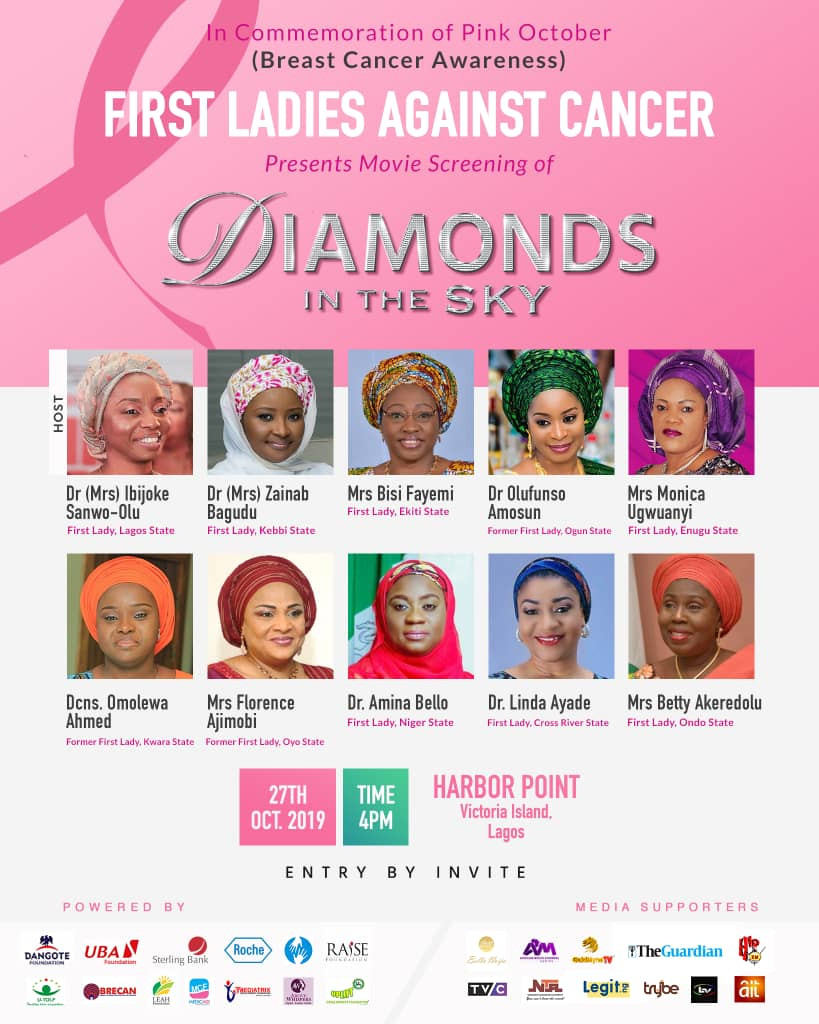Wives of Governors form coalition to screen Diamonds In The Sky for breast cancer awareness