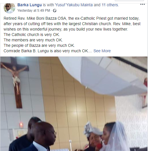 Photos from wedding ceremony of former Catholic Priest of 25 years in Kaduna lindaikejisblog  1
