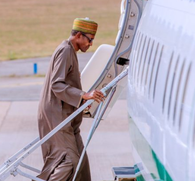 President Buhari accompanied by close personal aides head to Saudi Arabiato perform Umrahand attendFuture Investment Initiative
