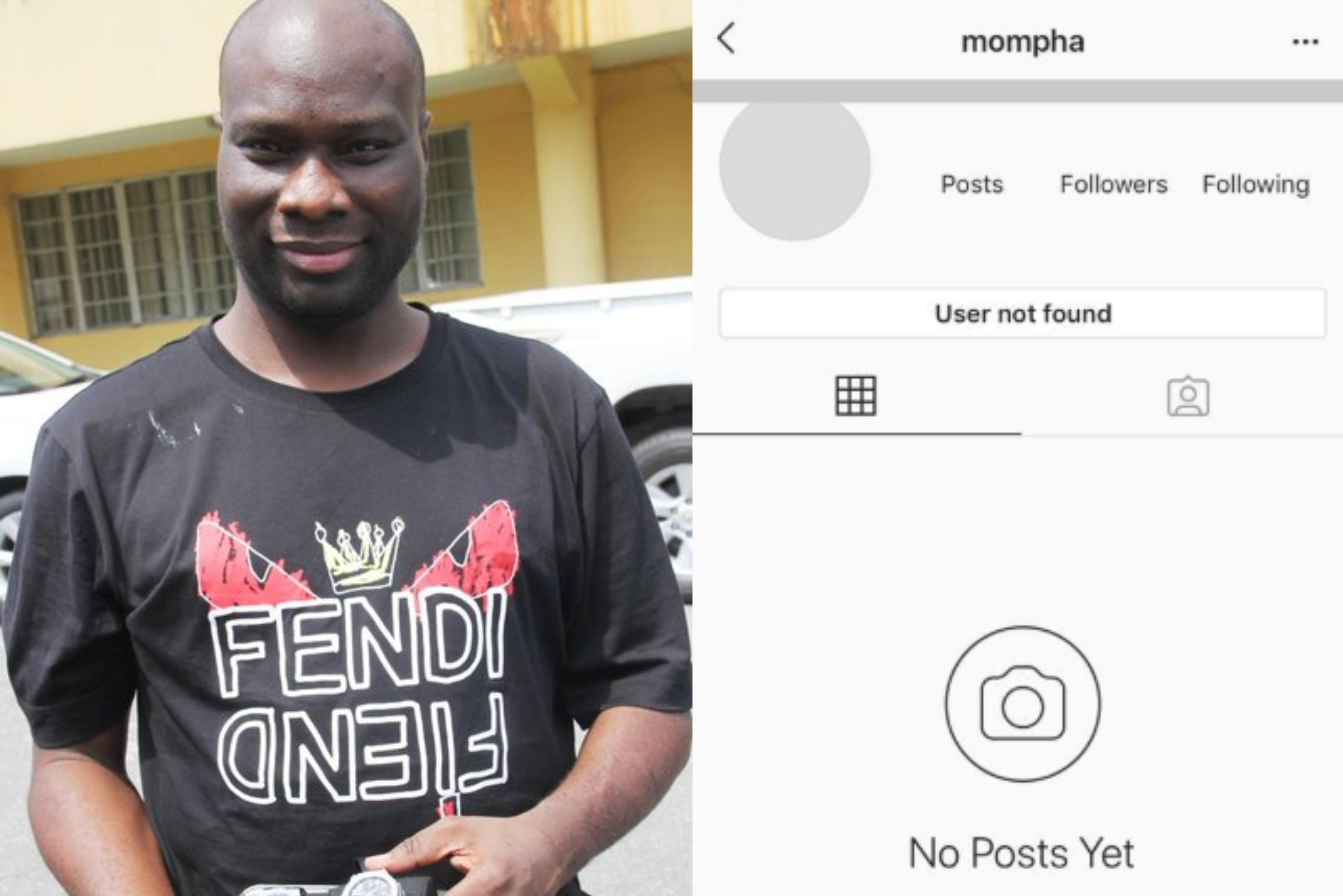 Mompha 'disappears' from Instagram after being arrested by EFCC lindaikejisblog