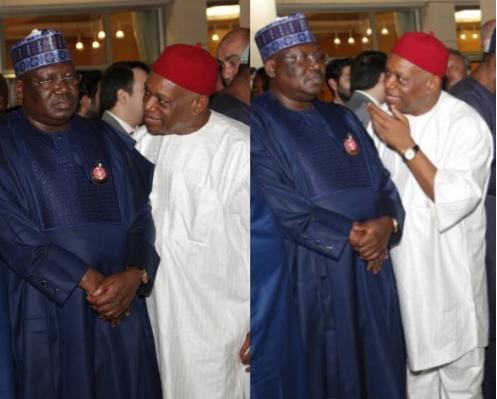 Caption this new photos of Senate President, Ahmed Lawan and Senator Orji Uzo Kalu