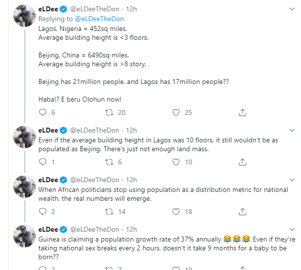 Nigeria's population is not 150 million, politicians are using it as a distribution metric for national wealth - Eldee wowplus.net
