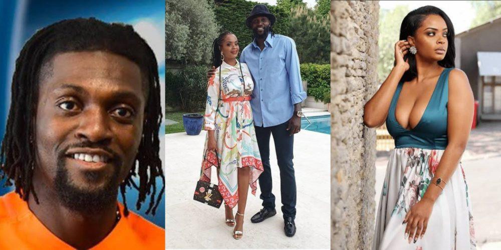 Emmanuel Adebayor and Dillish Mathews split lindaikejisblog