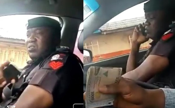 Bribe-taking policeman spotted lying to his colleague about the amount he collected from a motorist lindaikejisblog