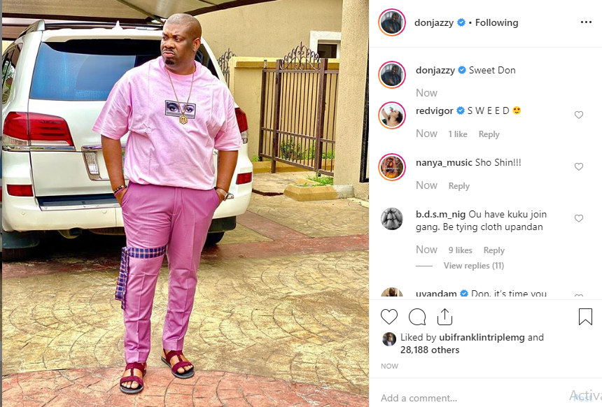 Don't disrespect women - Don Jazzy tells Actress Uyanda Mbuli over comment about his 'unironed' cloth lindaikejisblog 1
