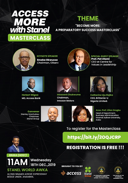 Top Industry leaders set to empower attendants at the Access More with Stanel Masterclass