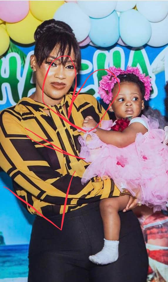 First photo of Flavour's third daughter surfaces online lindaikejisblog 1