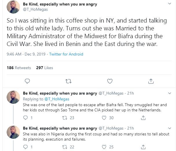 Man shares encounter with wife of Biafran Army General who got left behind after an escape plane arrived because he was with his girlfriend lindaikejisblog 1