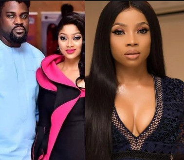 Yomi Black's wife, Liz, weighs in on faceoff between her hubby and Toke Makinwa