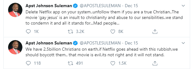 Delete your Netflix app, movie which portrayed Jesus as gay is an insult to Christianity - Apostle Suleman lindaikejisblog 2