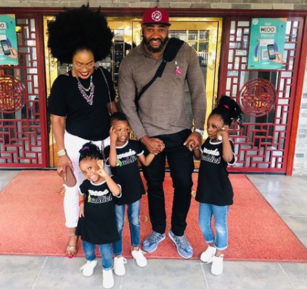 Friendly Exes: Singer Muma Gee and her estranged hubby, Prince Eke take their children out for lunch (Photos)