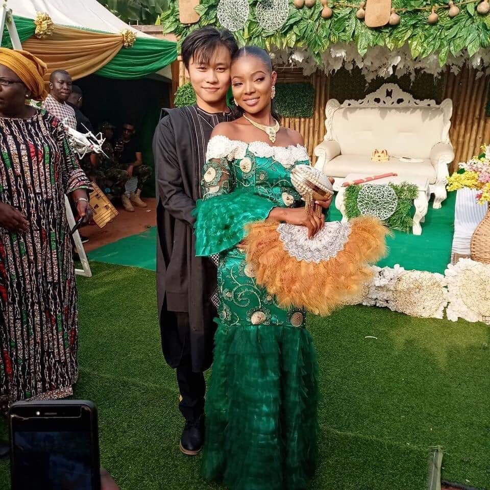 Anambra lady marries her heartthrob, Mr Long Ting lindaikejisblog 2