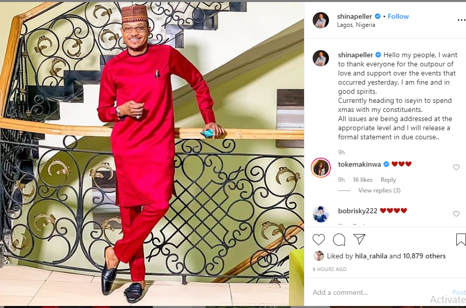 I am fine and all issues are being addressed at the appropriate level - Reps member and Quilox owner, Shina Peller speaks after arrest lindaikejisblog 1