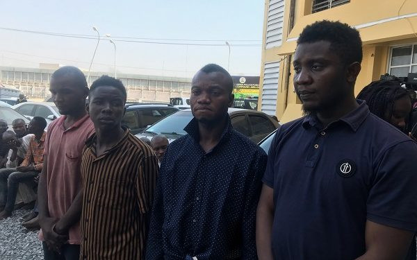 Police parade suspects of foiled Abuja bank robbery attack(photos)