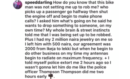How do you know the bike man wasn't setting me up to rob me Speed Darlington asks as he explains why he ran without fully paying an Okada man lindaikejisblog 1