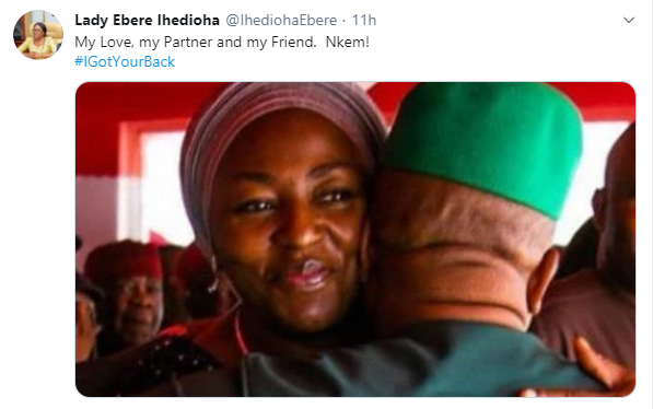 Governor Emeka Ihedioha's wife, Ebere reacts to Supreme Court Judgement that sacked her husband lindaikejisblog 1