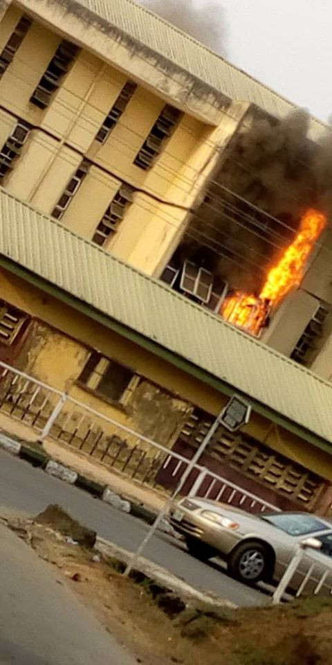 MOUAU male hostel razed down by fire lindaikejisblog 1