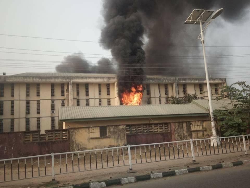 MOUAU male hostel razed down by fire lindaikejisblog 3