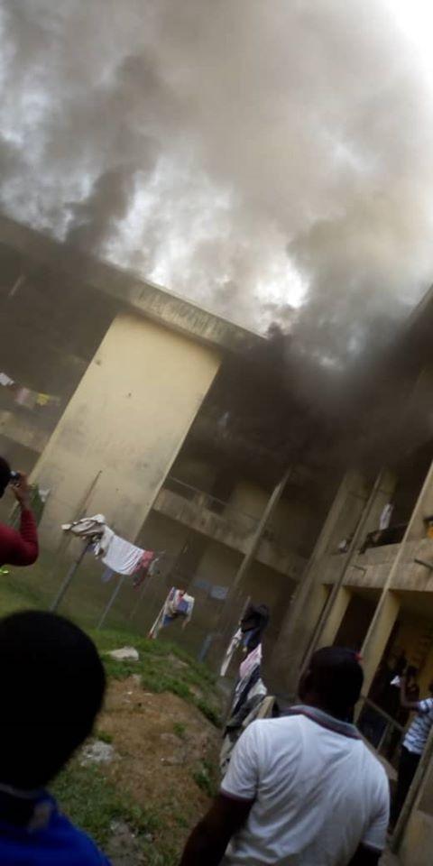 MOUAU male hostel razed down by fire lindaikejisblog  4