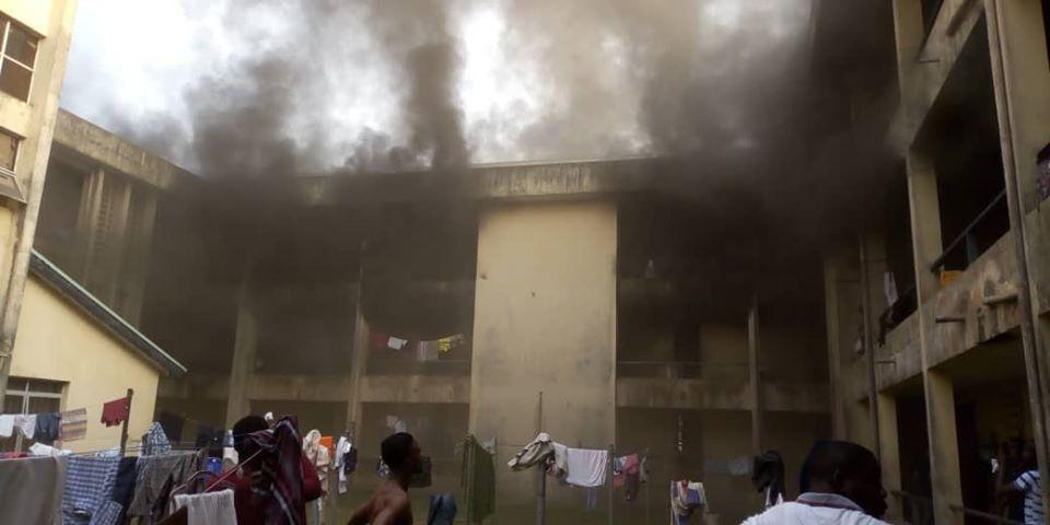 MOUAU male hostel razed down by fire lindaikejisblog 5