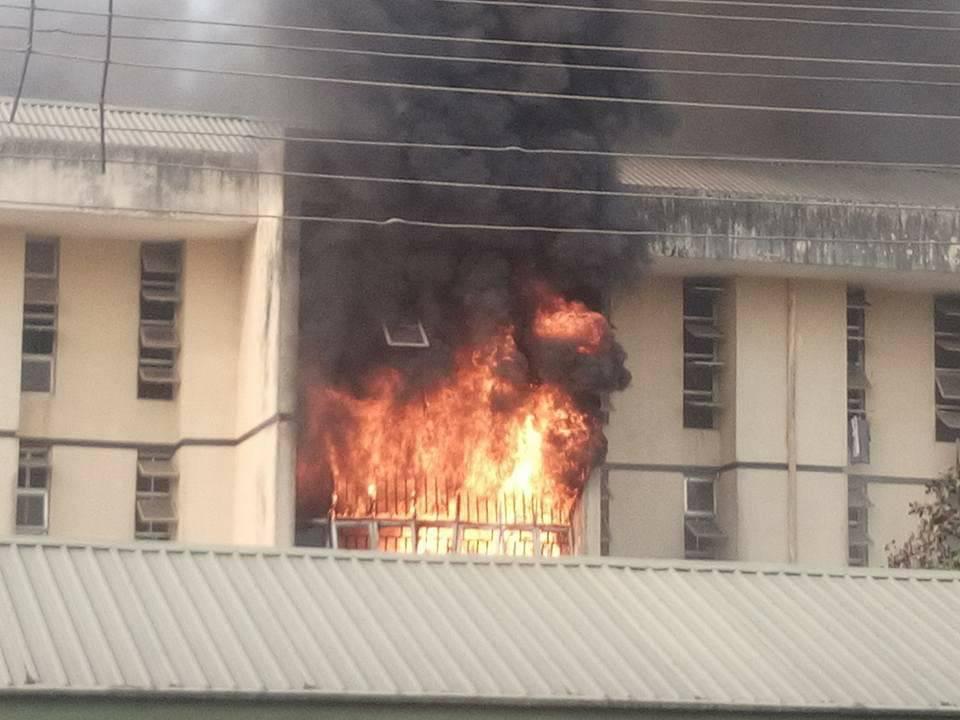 MOUAU male hostel razed down by fire lindaikejisblog