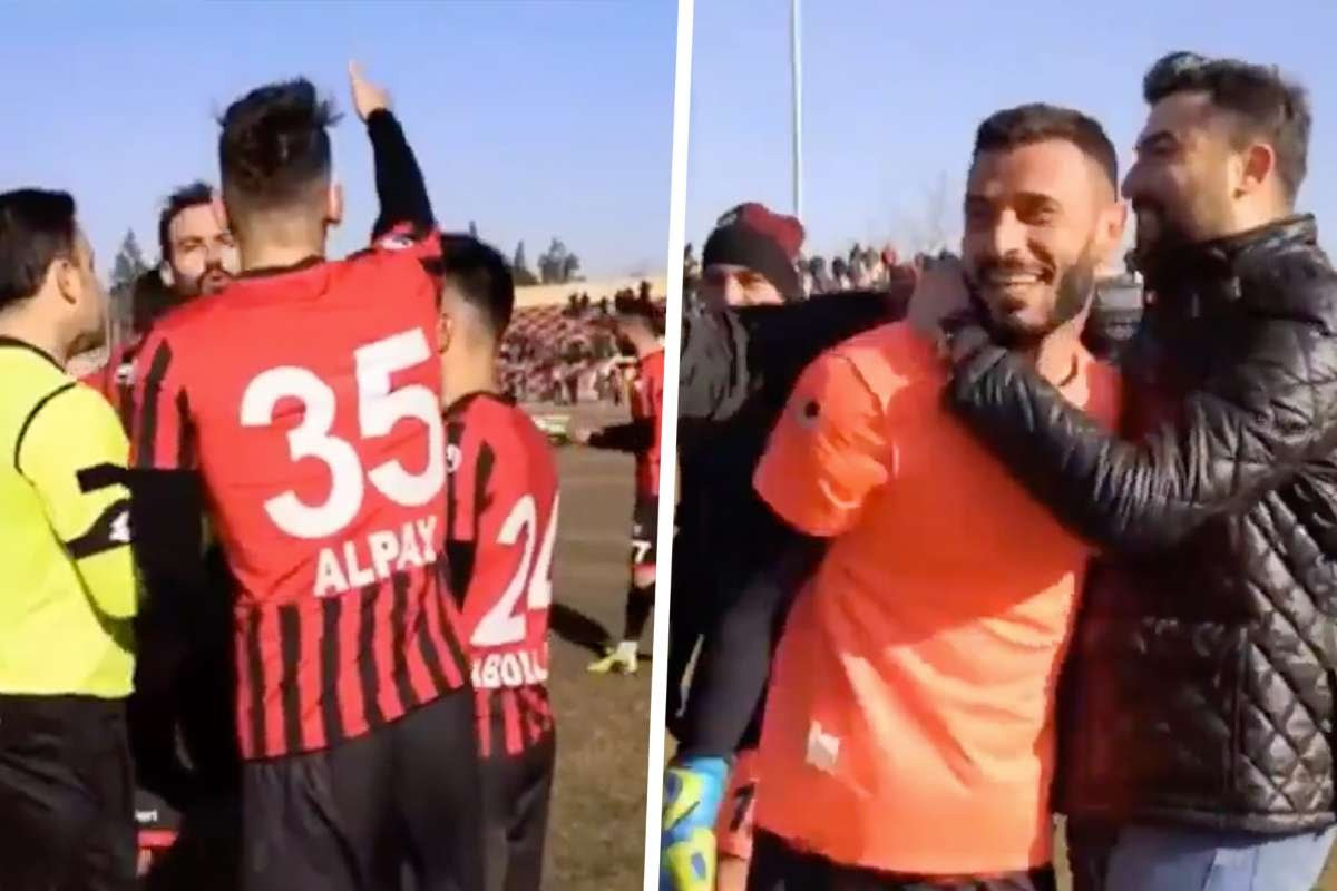 Watch Goalkeeper Turkey save=]\ two penalties, is sent off by referee and then defender that replaces him saves third penalty (video)