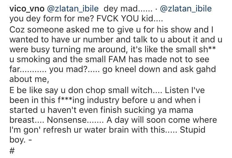 Vic O accuses Zlatan Ibile of setting him up and beating him lindaikejisblog 3
