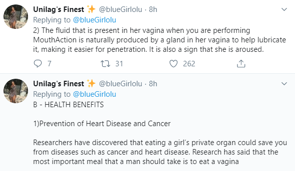 Eating out vagina