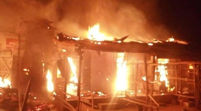 INEC office in Imo gutted by fire, weeks after Supreme court sacked Ihedioha