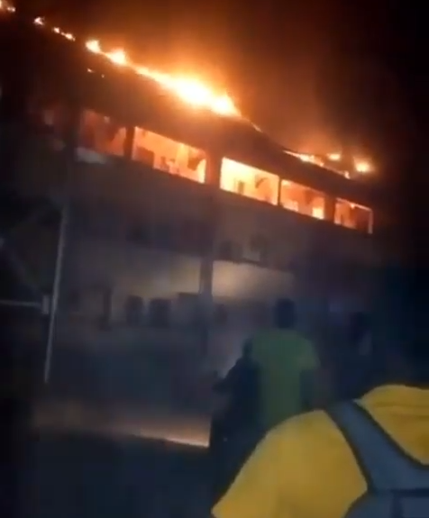 DELSU post graduate hostel on fire lindaikejisblog