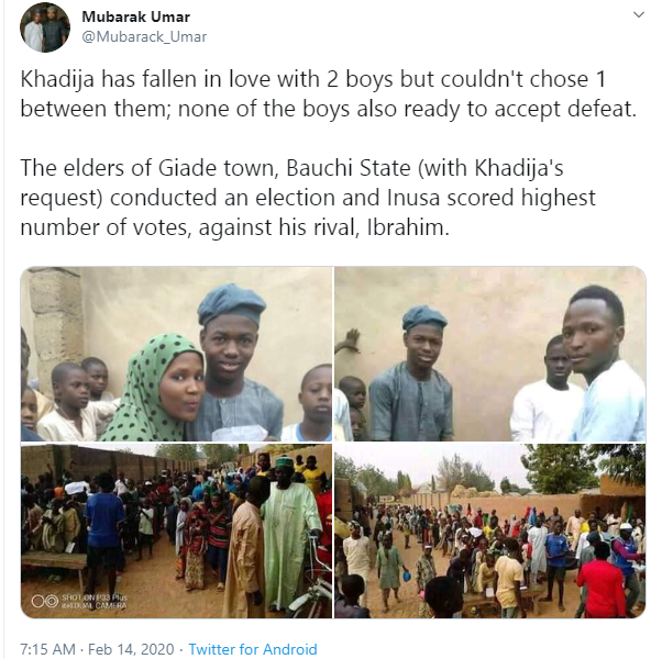 Two boys contest in an election over a girl in Bauchi lindaikejisblog 1