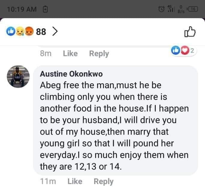 Nigerian married man sparks outrage after revealing he loves sleeping with 12, 13 and 14-year-old girls lindaikejisblog 2