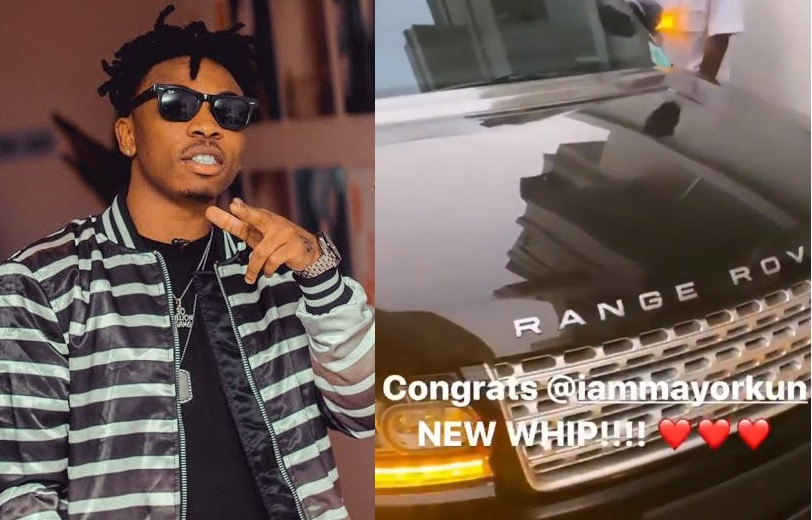 Singer Mayorkun acquires a brand new Range Rover (Video)