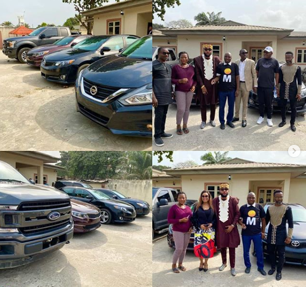 E-Money gives out cars to his staff on his birthday lindaikejisblog