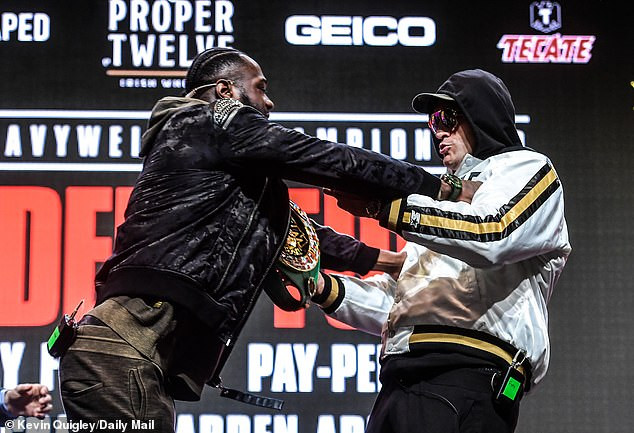 'When I found you, you were strung out on cocaine and contemplated suicide' – Deontay Wilder attacks Tyson Fury's past life as both fighters insult and shove each other (videos), All9ja