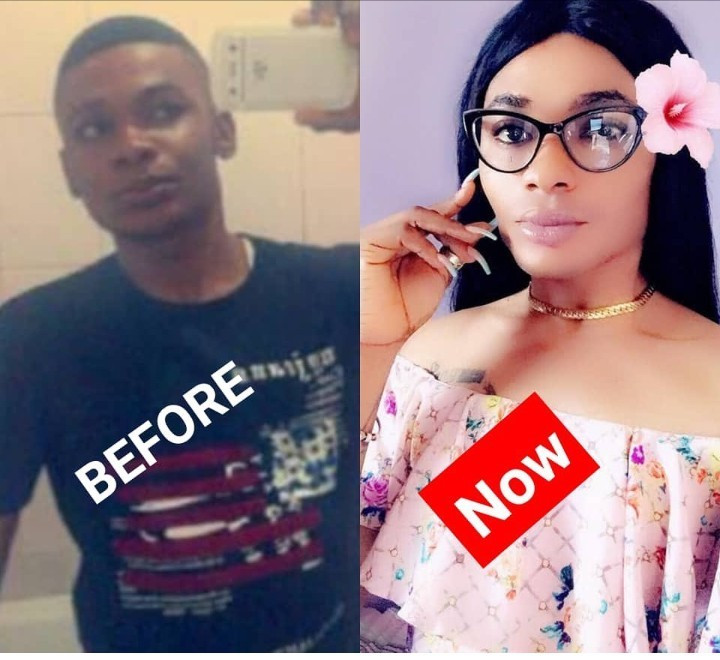 """Never address me as a HE but as a SHE"" Nigerian crossdresserJay Bugatti says as he reveals he was a boy but is now a girl"