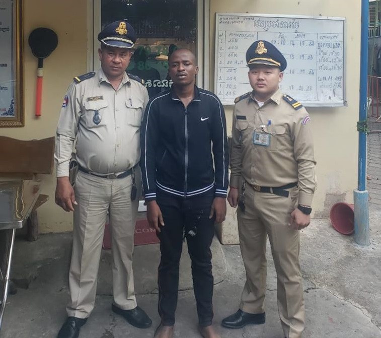 Homeless Nigerian man arrested in Cambodia, says he has no job, passport and money