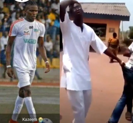 You must kill me too- father of Remo stars footballer, Kazeem Tiyamu grabs SARS officer over the death of his son (video), All9ja