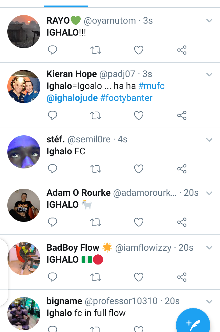 Twitter reacts as Odion Ighalo score his first goal for Man Utd. 2