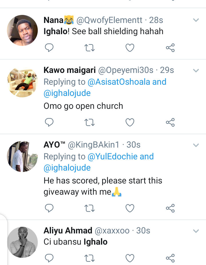 Twitter reacts as Odion Ighalo score his first goal for Man Utd. 3
