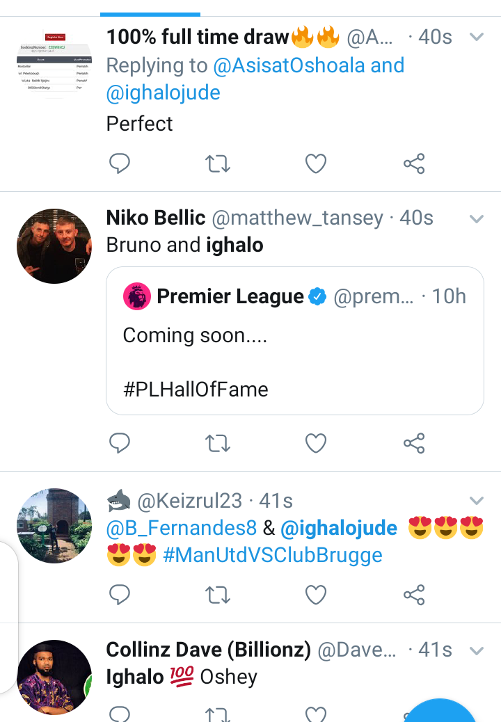 Twitter reacts as Odion Ighalo score his first goal for Man Utd. 5