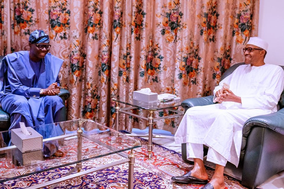 Sanwo-Olu visits President Buhari over Coronavirus