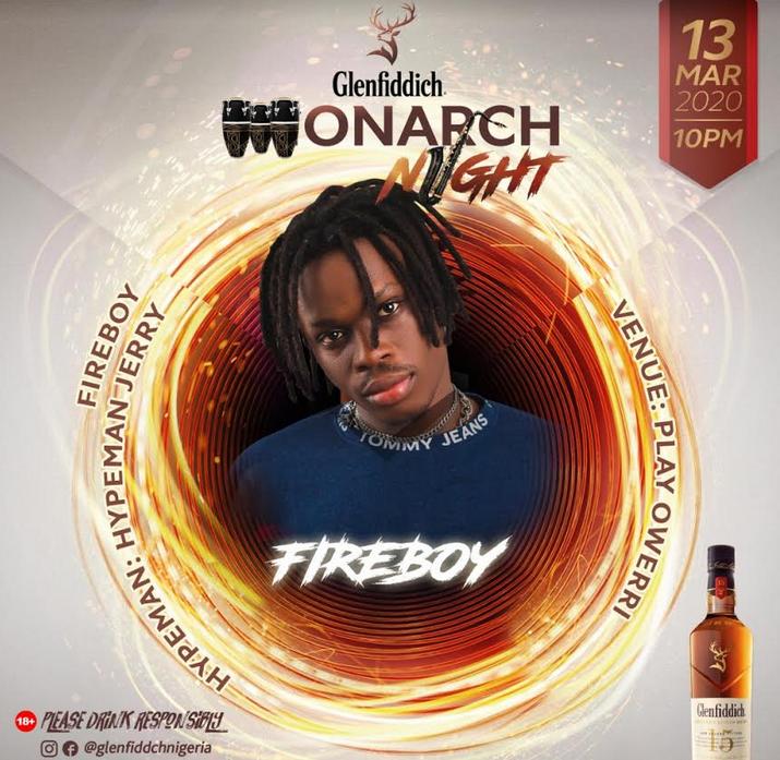 ", Glenfiddich ""Monarch Night"" at Play Royal Owerri With Fireboy DML, All9ja, All9ja"